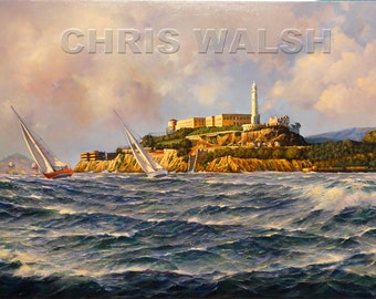 "Fine Art Prints ""Alcatraz"" by artist Chris Walsh"