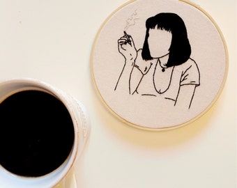 Mia Wallace, Pulp Fiction Embroidery Hoop