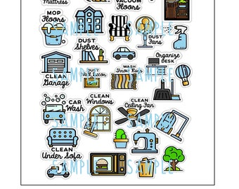 printable planner stickers chores cleaning