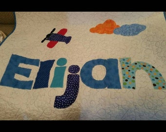 Personalized custom name quilt baby shower gift