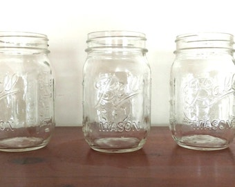 6 New Mason Jars Crafting Candles Hanging Canning Vases PINT and QUART Wedding Decor Lighting Rustic Decor