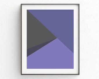 Modern Wall Art, Geometric Print, Instant Download Printable Art, Purple Prints, Modern Prints, Geometric Art, Scandinavian Print