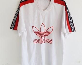 Vintage Adidas Trefoil Big Logo Hip Hop Clothing T-Shirt