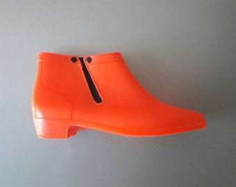 Orange Design Rain Boots size 37