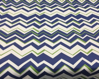 RICHLOOM Tempest Navy Blue Zig Zag Chevron outdoor furniture fabric By the yard