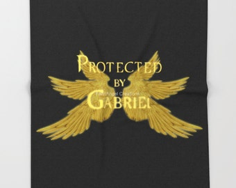 Super Soft Supernatural Protected by Gabriel Throw Blanket, 3 Sizes Available! - Archangel