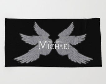 Supernatural Michael with Wings Beach Towel, Bath Towel, and Hand Towel! You Choose! Archangel
