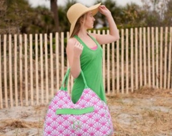 Shelly Beach or Pool Bag and Cooler Monogrammed