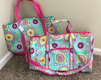 Girls Piper Monogrammed Duffle and Tote Bag