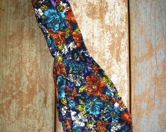 Flower print Ukelele bag - a beautiful handmade bag with adjustable cord and carrying handle
