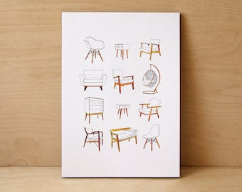 Retro Furniture Limited Edition Print