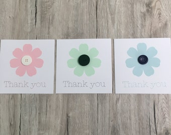 Handmade personalised thank you card // Personalized thanks card