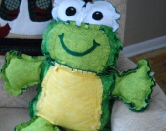 Quilted Stuffed Frog