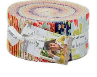"""Moda CONEY ISLAND 40 2.5"""" Quilt Fabric Strips 20280JR Jelly Roll Fig Tree & Co"""