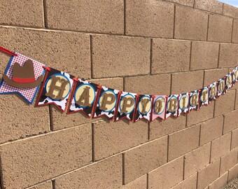 Cowboy birthday banner, cowboy banner, cowgirl birthday banner, cowgirl banner