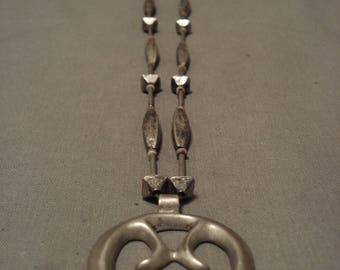Opulent Vintage Late 1800's/ Early 1900's Hand Pounded Silver Necklace