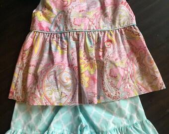 Baby girls paisley short set