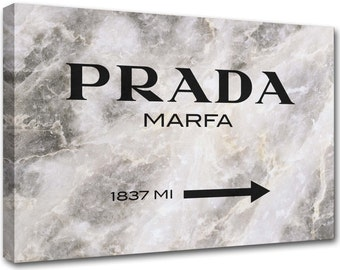 Prada Marfa Gossip Girl marble abstract painting pr6 - modern art, interior decoration - canvas printed Made in Italy