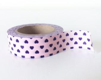 Pink and purple heart dot washi tape