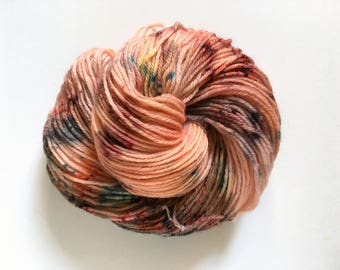 Hand-Dyed Worsted Weight Yarn, Speckle Yarn, OOAK