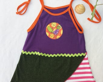 Dress girl, beach dress, beach dress with shoulder straps, adjustable straps size 6-12 months. Different children's clothing
