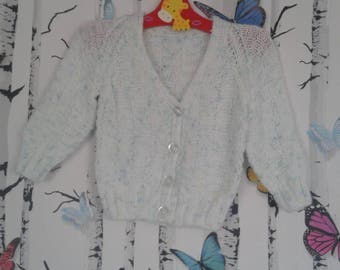 Boys Cardigan, Knitted Cardigan, 3 - 6 Months, Baby Boy, Handmade, Hand Knitted, Baby Shower Gift