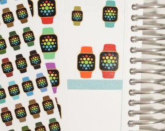 Smart Watch Icon Planner Stickers (NF418) High Gloss, Semi-Gloss, Matte Stickers