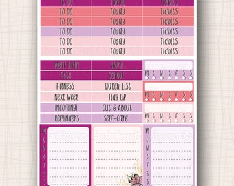Sidebar and Header Planner Stickers | Haute to Trot Headers, Stackers, and Trackers | 40 Stickers Total | #SP1904