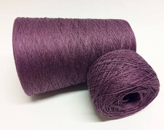 100g 100% linen yarn linen thread 3ply burgundy violet purple