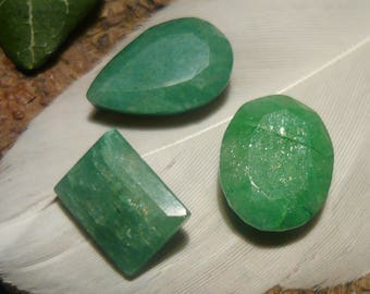 DISCOUNT Set of Emeralds, 14.65ct total