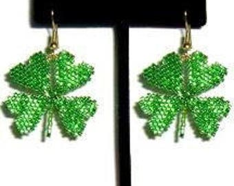 Shamrock Earrings - Beading Pattern