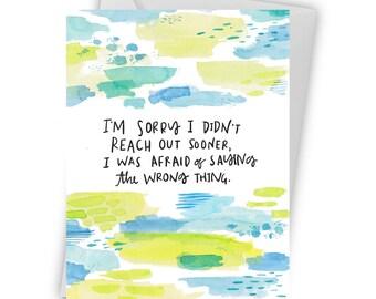 Honest Sympathy Card- I'm sorry- Greeting Cards