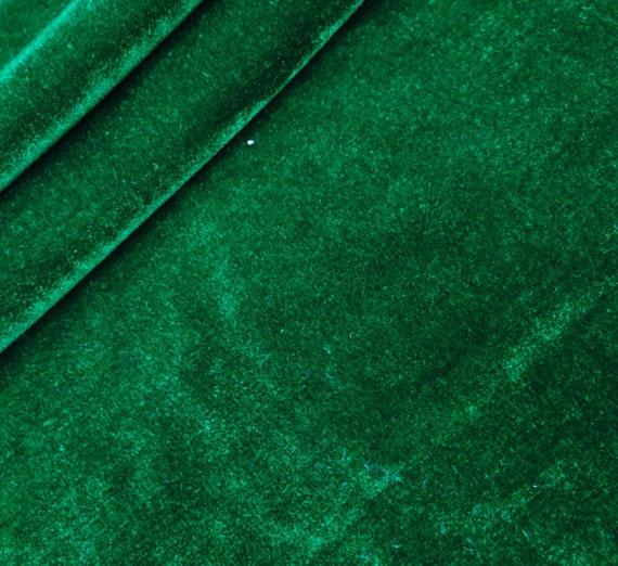 Dark Green Velvet Fabric, Decorative Fabric, Stretch