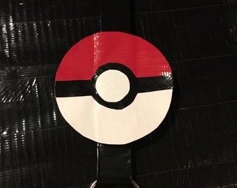 Duct Tape Pokemon Pokeball Keychain