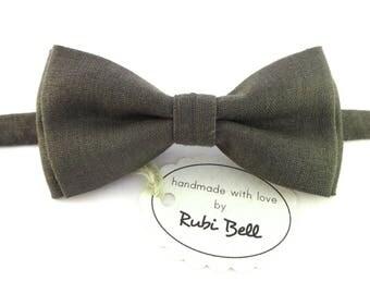Grey linen bow tie, grey bow tie, bow ties for men, wedding bow tie, mens necktie