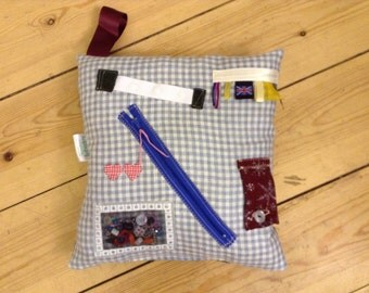 Activity Touch & Feel-Me Cushion . Dementia , Alzheimer's , Autism , Anxiety and Special needs .