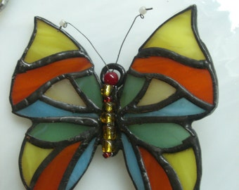 Butterfly stained glass Tiffany.