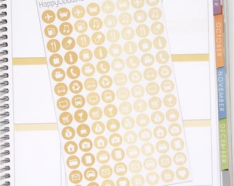 August '18 Daily Icons Planner Stickers (104 Stickers)