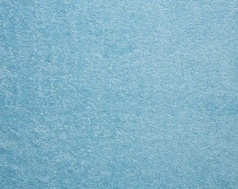 Light Baby Blue Baby Loop Terry Cloth fabric by the yard