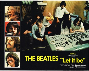 Let It Be - 1970 - Beatles - US Lobby card No #3