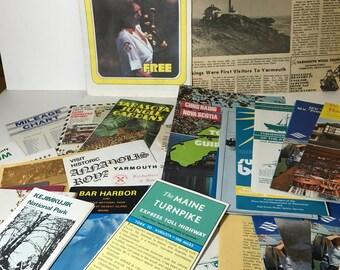Large Lot of Vintage Tourist Brochures, Canada, Maine, Florida, Nova Scotia - Vintage Travel Brochures
