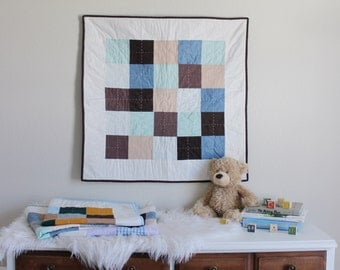 Ready to Ship Patchwork Play Mat Quilt, Car Seat Quilt, Baby Quilt, Crib Quilt