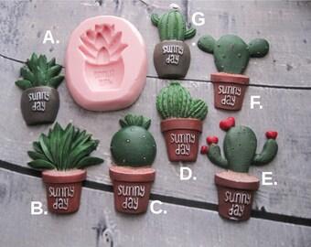 Cactus Silicone Mold - Cactus Mold - Flexible Mold - Food Safe Mold - Fondant Mold - Southwest Molds - Cake Decorating Molds - Mold