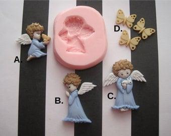 Angel Silicone Molds - Praying Angel Molds - Food Safe Mold - Flexible Molds - Fondant Molds - Craft Molds - Cake Decorating Molds - Molds