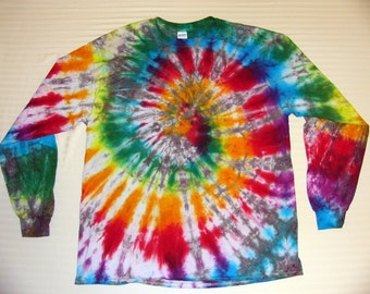 Tie Dye Long Sleeve Spiral T-Shirt