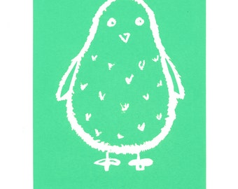 Green Chick Screen Print