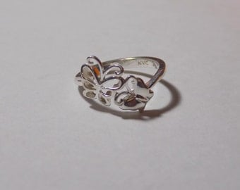 Sweet sterling silver butterfly ring size 7.25