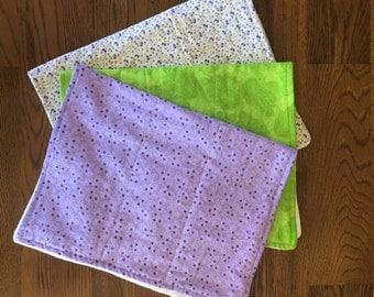 3 Baby Burp Cloths