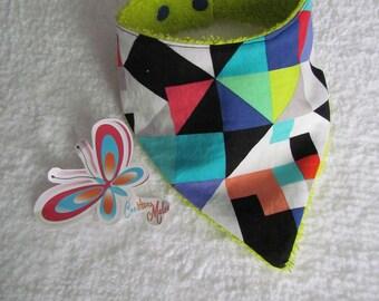 bandana bib with form geometric color summer