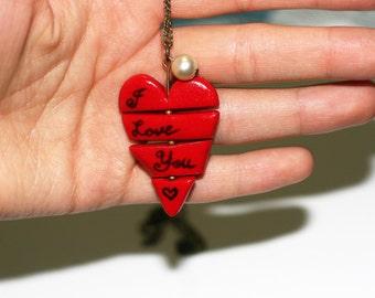 I love you necklace - I adore you necklace